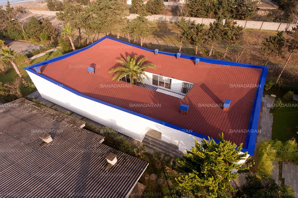 ویلای مسکونی نور، شهرک فردوس شمالی-پوشش سقف شیبدار