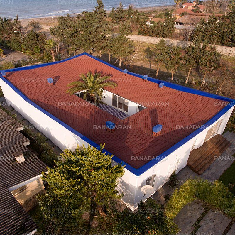 ویلای مسکونی نور، شهرک فردوس شمالی-شینگل-پوشش سقف شیبدار