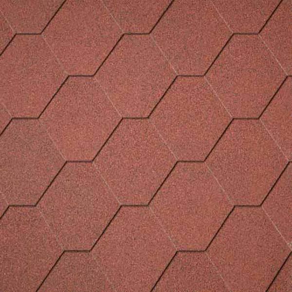 Superglass Hex - Tile Red (10)